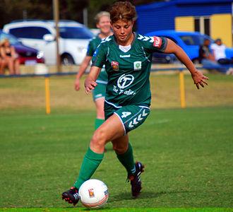 Michelle Heyman - Heyman playing for Canberra United in 2010