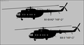 Mil Mil-8VKP and Mi-9 side-view silhouettes.png