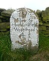 Milestone on Woodhead Road, Holme - geograph.org.uk - 1303006.jpg