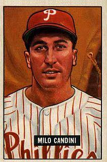 Milo Candini American baseball player