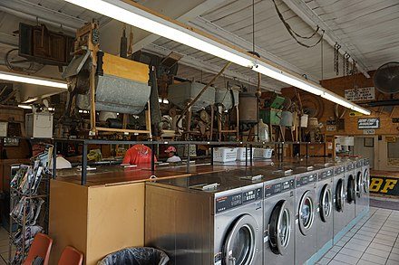 The Washing Machine Museum in Mineral Wells, Texas Mineral Wells May 2017 22 (The Laumdronat and Washing Machine Museum interior).jpg