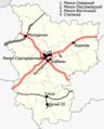 Minskaja voblasć, Belarus (railroads) — Железные дороги в Беларуси, Минская область.png