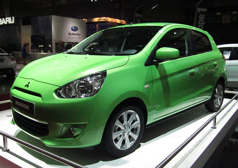 File:Mitsubishi Mirage (front quarter) green.JPG