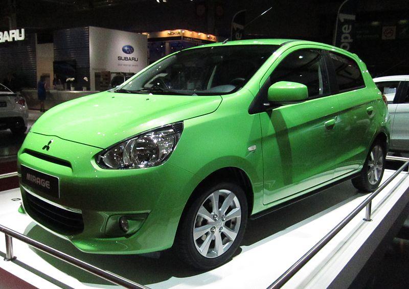 File:Mitsubishi Mirage (front quarter) green.JPG