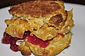 Mmm... buttermilk drop biscuit peanut butter sammich (5209296415).jpg