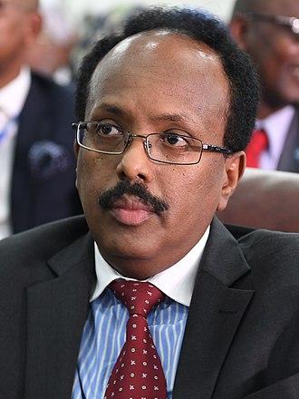 Mohamed Abdullahi Mohamed - Image: Mohamed Abdullahi Farmajo (cropped)