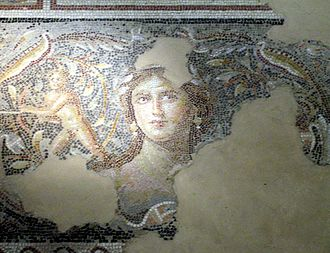 "Sepphoris - ""Mona Lisa of the Galilee"", 4th-century Roman mosaic in Sepphoris"