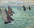 Monet Sailing Boats at Sea w125.jpg