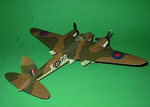 Monogram (company) - A built Monogram 1:48 scale British de Havilland Mosquito.