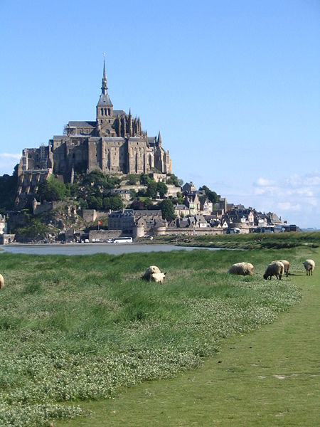 Image:Mont St Michel with sheep.jpg