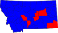 Montana Gubernatorial Election Results by county, 2008.png