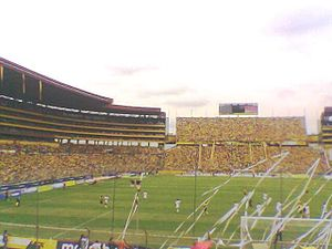 Barcelona S.C. - Barcelona's stadium during a match in 2006.