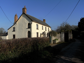 """Moor Hayes - """"Moorhayes Farm"""", remnant of the ancient mansion house of the Moore family, viewed in 2017"""