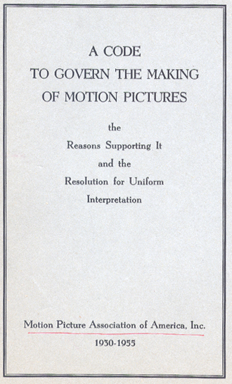 Motion Picture Production Code - 1934 Motion Picture Production Code cover