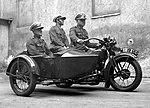 Patrol przedwojennej polskiej Policji drogowej
