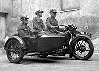 Motocyklowy patrol policji 1932