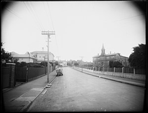 Wellington Girls' College - View from Moturoa Street circa 1935