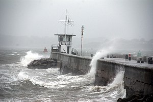 Mount Batten - Mount Batten Breakwater during storm