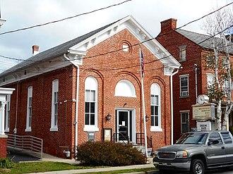 Mountville, Pennsylvania - Image: Mountville PA Borough Hall Lan Co 1887
