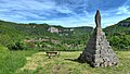 Mouthier-Haute-Pierre, la vierge de Sainte-Foy au-dessus du village.jpg