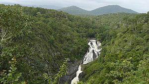Moyar River - Moyar waterfalls from MGR Watchtower, Mudumalai