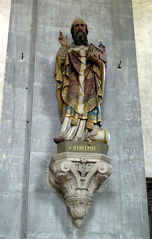 Hidulf - Hidulf, statue in the abbey church at Moyenmoutier.