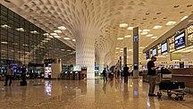 Chhatrapati Shivaji Maharaj International Airport-Terminals-Mumbai 03-2016 114 Airport international terminal interior