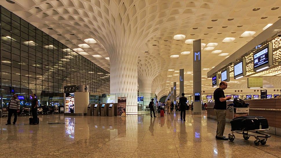 Mumbai 03-2016 114 Airport international terminal interior