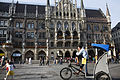 Munich - Rickshaws in front of the neues Rathaus - 7447.jpg