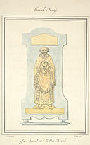 Mural brass of a priest in Bettws Church, 1794.jpg