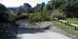 Murarrie, Queensland - Canoe ramp at Murarrie Recreation Reserve
