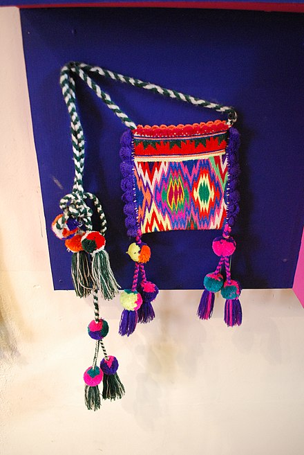 Small Tepehuan carrying bag in traditional design MuseoCulturasPopularesDurango068.jpg