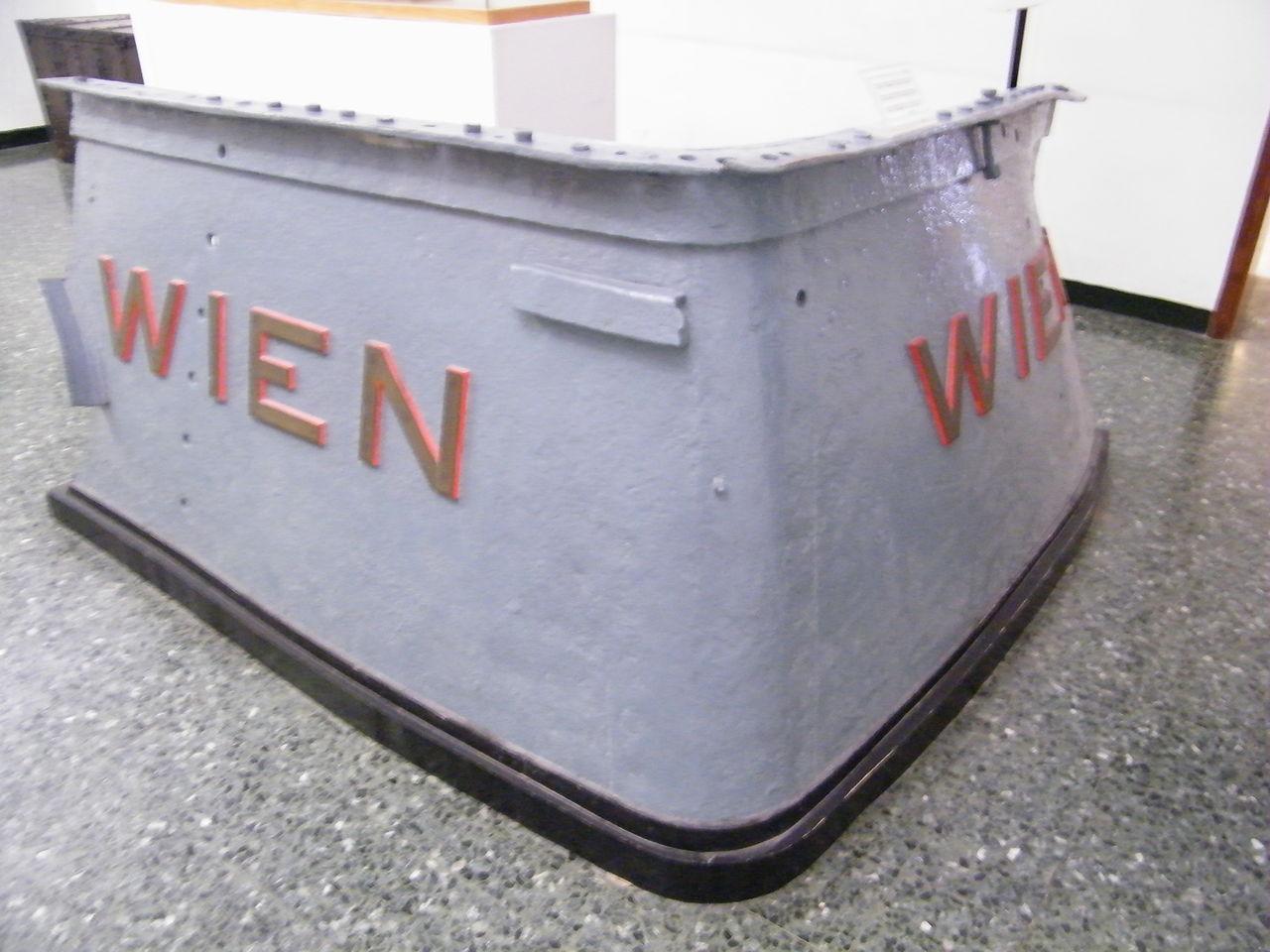 Bugfragment der SMS Wien im Marinemuseum Venedig