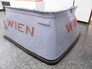 SMS Wien - Bow section of Wien at the Museo Storico Navale, Venice