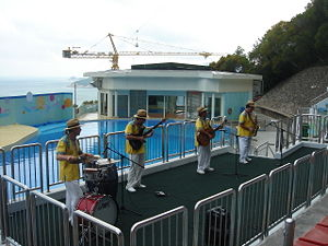 Ocean Park Hong Kong - Musicians performing at the Ocean Theatre