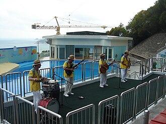 Ocean Park Hong Kong - Musicians performing at the Ocean Theatre