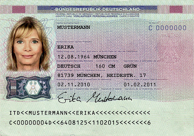 File Muster Des Personalausweises Rs Jpg Wikimedia Commons