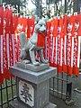 Myôgon-ji Temple - Statue of Inari at Reikozuka.jpg