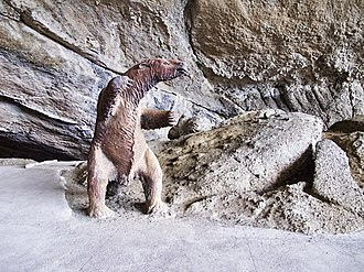 Mylodon - Model in Cueva del Milodón Natural Monument where fossils were found in 1896