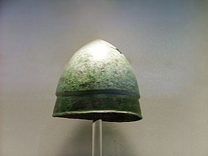 Pileus (hat) - Image: NAMA Greek helmet of Pilos type