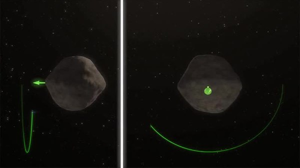 NASA Asteroid Redirect Mission gravity tractor animation
