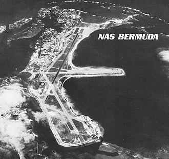 Kindley Air Force Base - Kindley AFB as U.S. Naval Air Station Bermuda, 1970.