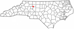 Location of Clemmons, North Carolina