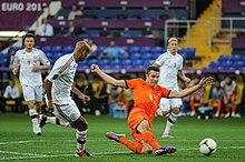 van Persie con la maglia della Nazionale olandese ad Euro 2012.