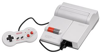 Nintendo Entertainment System (Model NES-101) - The NES-101 control deck alongside its similarly redesigned NES-039 game controller.