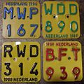 NETHERLANDS 1986-87-77-89 -MOPED-SCOOTER PLATES - Flickr - woody1778a.jpg