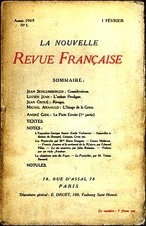 <i>Nouvelle Revue Française</i> French journal