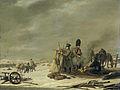Nachtkwartier te Molodetschno, 3-4 december 1812; episode uit de terugtocht van keizer Napoleon uit Rusland Rijksmuseum SK-A-1043.jpeg