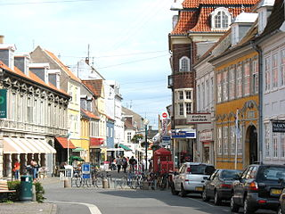Nakskov Town in Zealand, Denmark