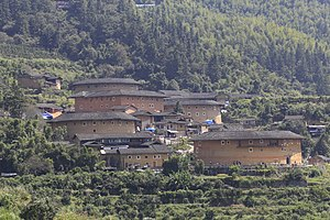 Tianluokeng Tulou cluster - Earth building group at TianLuokeng
